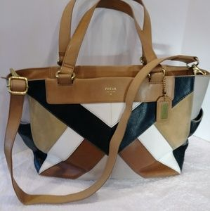 FOSSIL VERY LARGE LEATHER SATCHEL